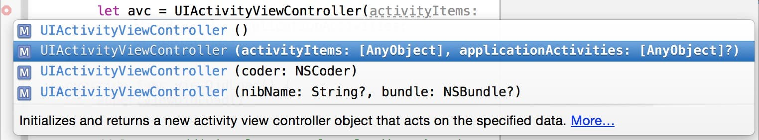 Create a UIActivityViewController object