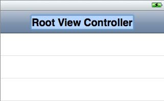 Edit the Root View Controller title
