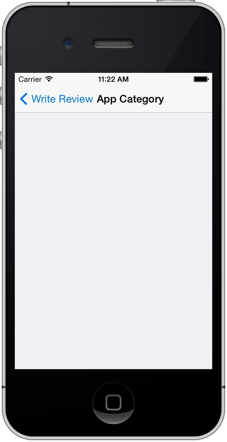 Empty App Category list