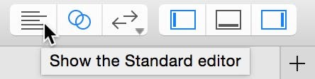 Select the standard editor button