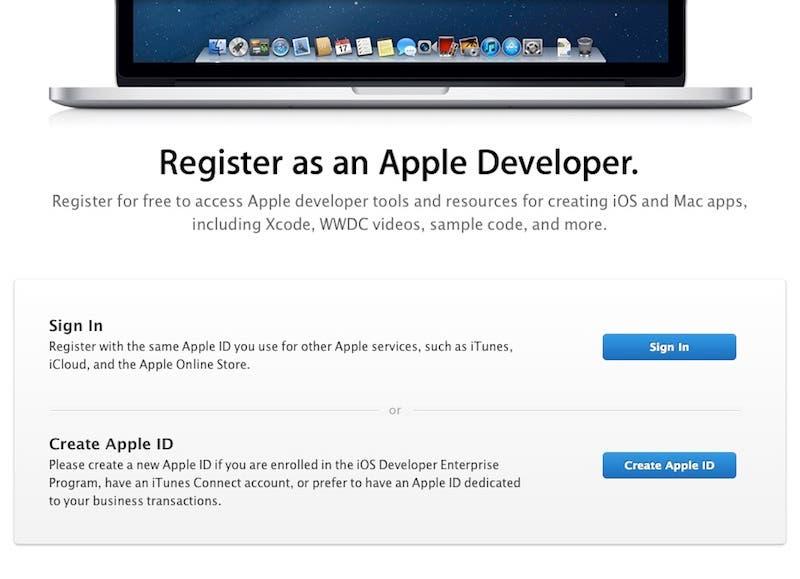 Apple Developer Registration