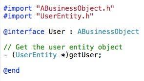 User class header