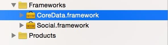 Core Data Framework added