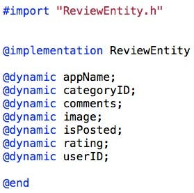 ReviewEntity implementation file