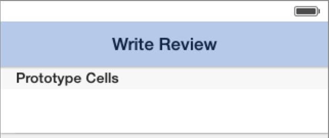 Write Review navigation bar