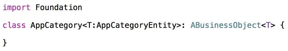 Declare AppCategory class