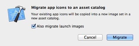 Migrate app icons