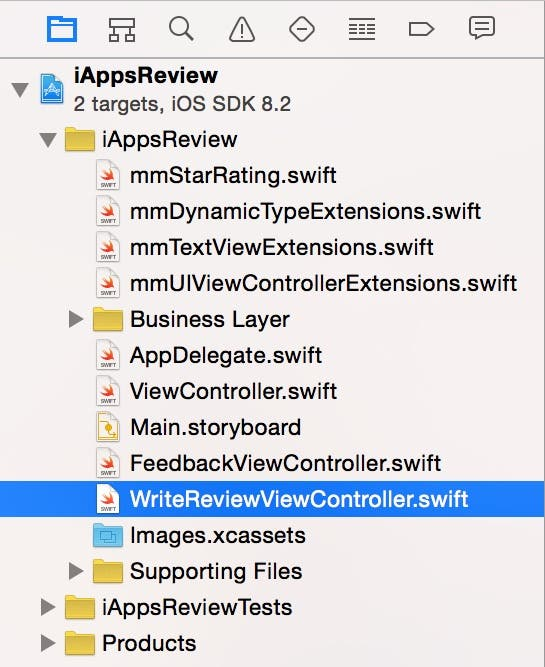 New view controller file