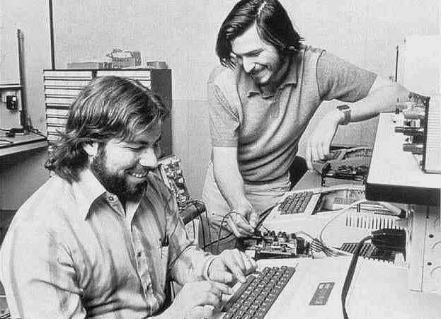 Steve Wozniak, Steve Jobs and the Apple II