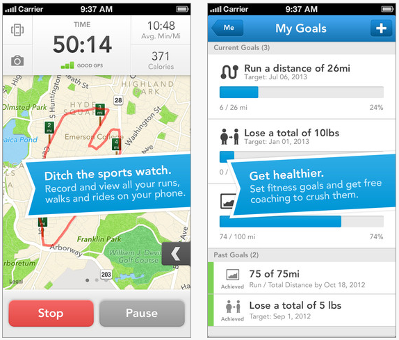 Runkeeper iPhone app