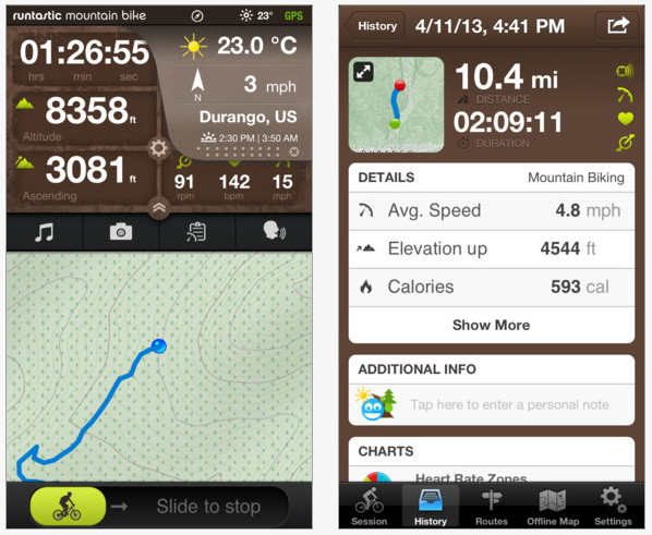 Runtastic iPhone app