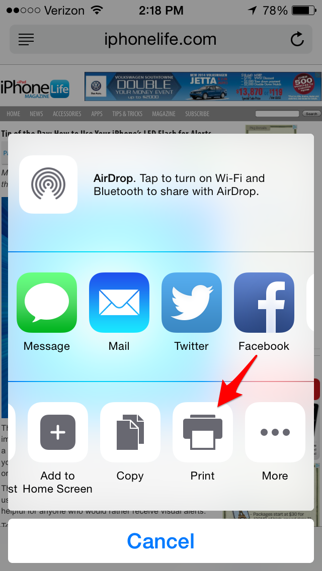 air printer for iphone tip of the day how to use airprint to print from your 1876