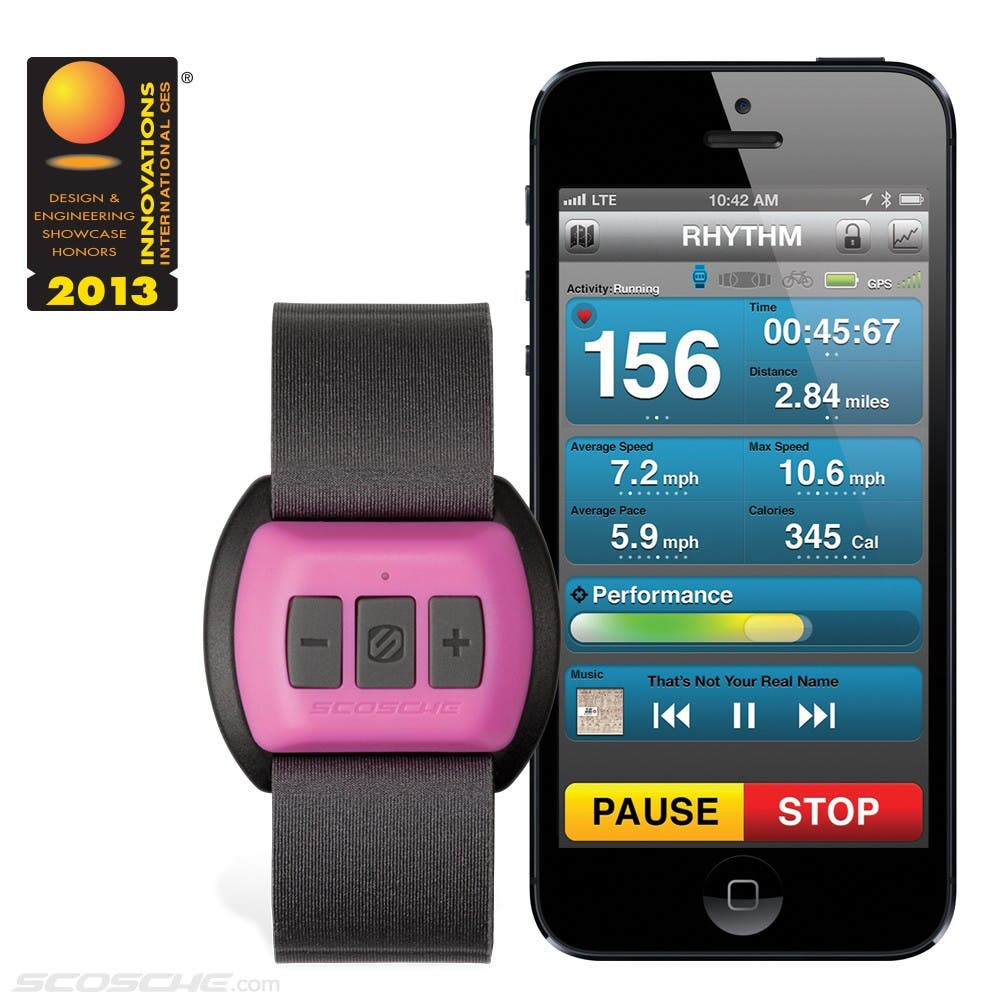 Motifit On Apple Using The Built In Heart Rate Monitor Vs Iphone 6 A Scosche Rhythm Bluetooth