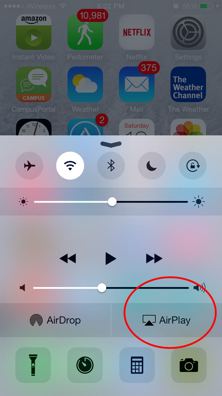 2 Swipe Up From The Bottom Of Your Screen To Access Control Center