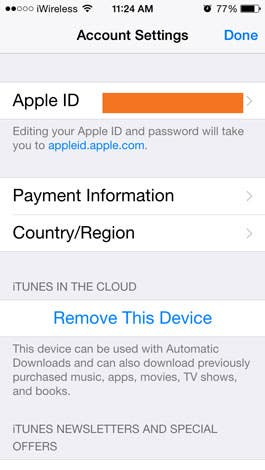 how to change itunes payment settings