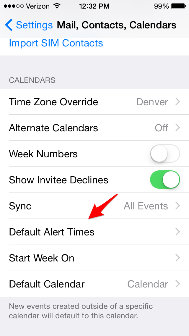 how to change the display of the day in calendar