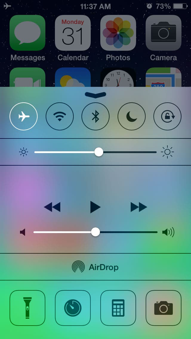 charge your battery in airplane mode