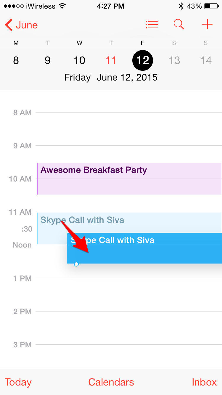 Reschedule Appointments by Dragging and Dropping Calendar Events