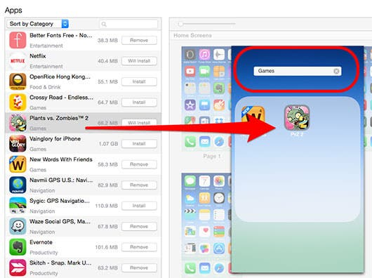 How to customize your home screen in itunes iphonelife click on individual home screens to move apps and folders around within that page by clicking on and dragging them or to delete them tap the x in the ccuart Images