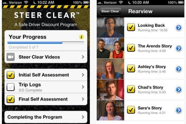 Steer clear mobile app