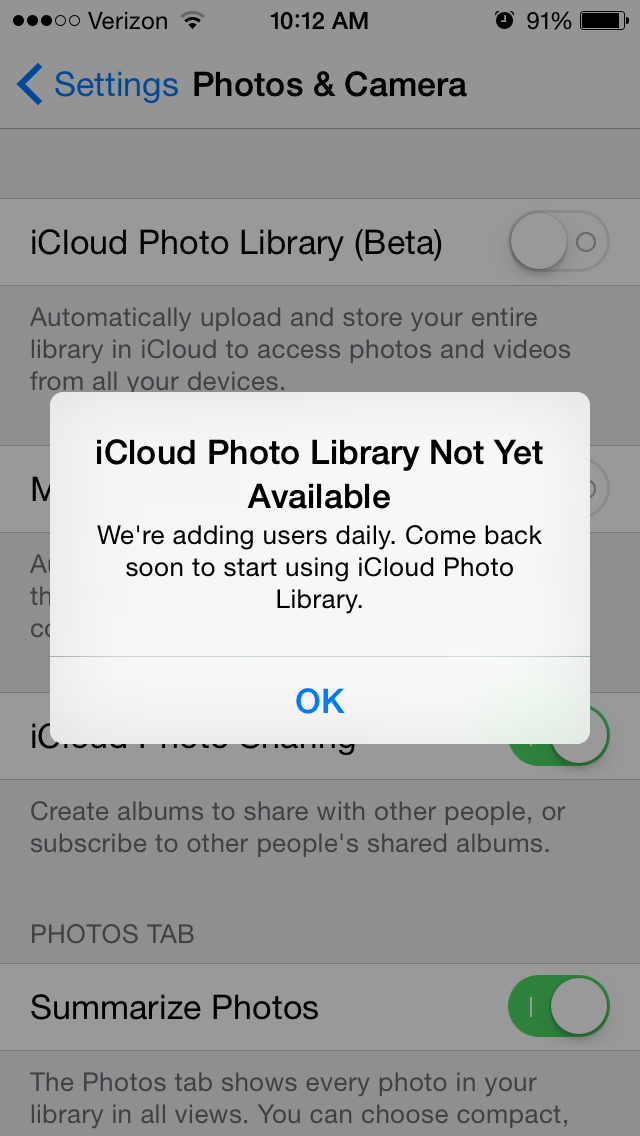 Tip Of The Day Save Storage By Turning On Icloud Photo