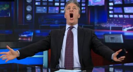 Jon Stewart celebrates Verizon iPhone