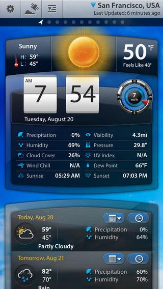 top 5 free weather apps for iphone